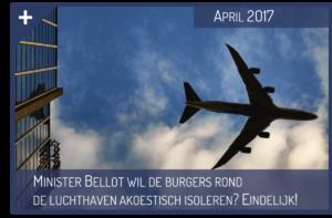 Minister Bellot wil de burgers rond de luchthaven akoestisch isoleren? Eindelijk!
