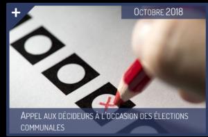 Appel aux décideurs à l'occasion des élections communales